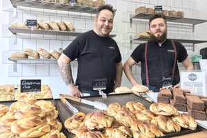 Charles Artisan Bread bakers Karolis Siudikas in their Hackney bakery.