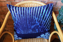 Load image into Gallery viewer, Cotton Waxprint Cushion Cover by OJA London: Blue Ray