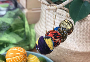 Make baubles from recycled fabric scraps