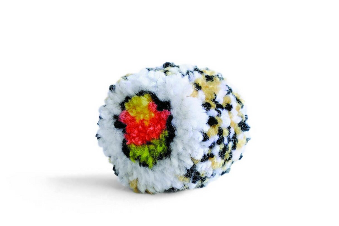 Make a California roll pompom