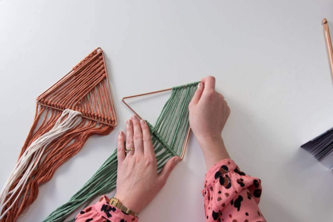 Make a Macrame Geo Wall Hanging