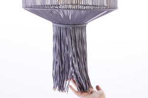 Handmade macramé lantern shade by Heather Orr