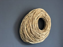 Load image into Gallery viewer, White woven wall sculpture