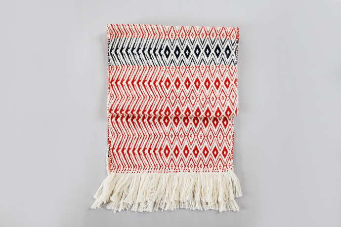 Handwoven lambswool scarf by Whelan's Weaving