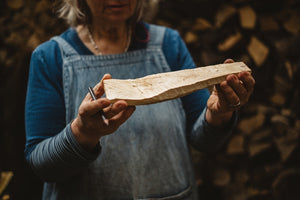 Carve a wooden spoon