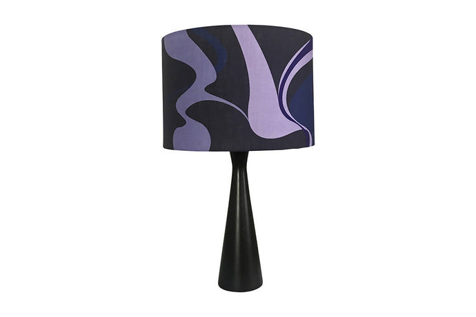 Drum Lampshade Kit with Violet Silhouette Fabric