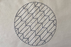 Learn to make Moyozashi Sashiko stitches: Course and Kit