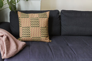 Offset Warehouse organic fabric & Sew a cushion cover: Course + kit