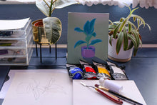 Load image into Gallery viewer, Learn to paint with acrylics: houseplant still life