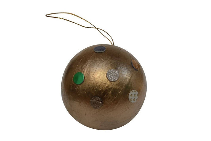 Make an Upcycled Dotty Leather Bauble: Kit + Guide