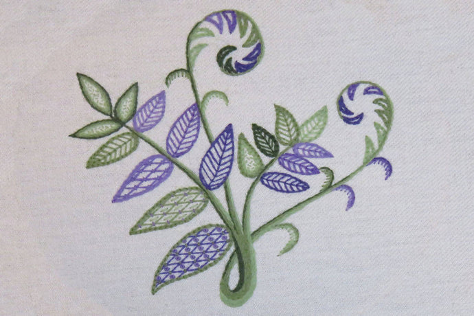 Fern embroidery: Kit + Guide