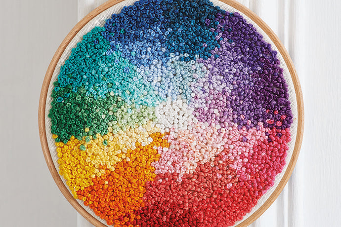 Embroider a colour wheel