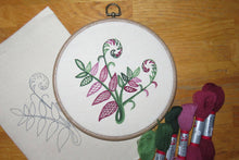 Load image into Gallery viewer, Fern embroidery: Kit + Guide