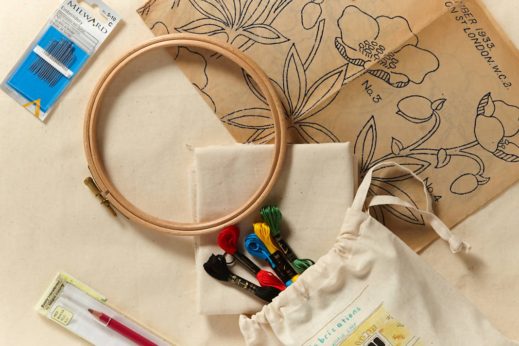 Hand embroidery starter: Kit + Guide