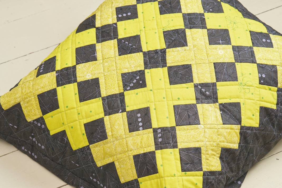 Make a patchwork floor cushion