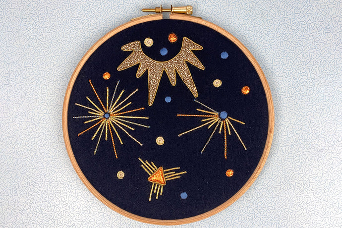 Make an Art Deco Festive Goldwork Embroidery: Course + Kit