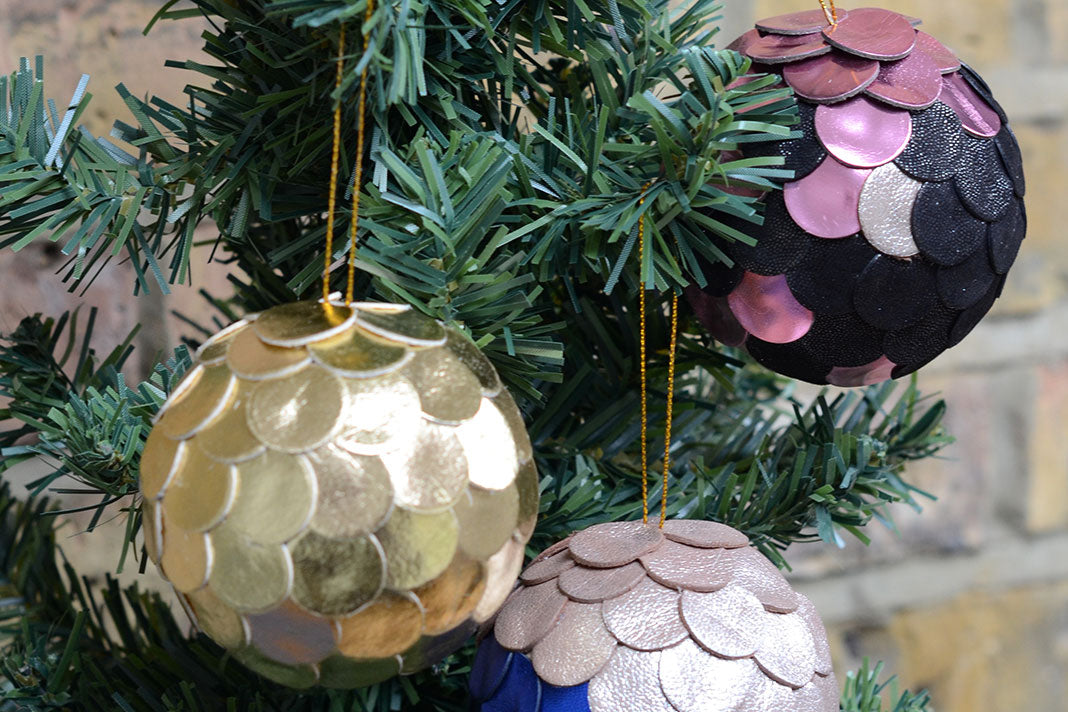 Make an Upcycled Leather Christmas Bauble: Course + Kit
