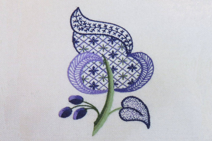 Jacobean leaf embroidery: Kit + Guide
