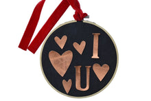 Load image into Gallery viewer, Make an Upcycled Heart Valentines Embroidery Hoop: Kit