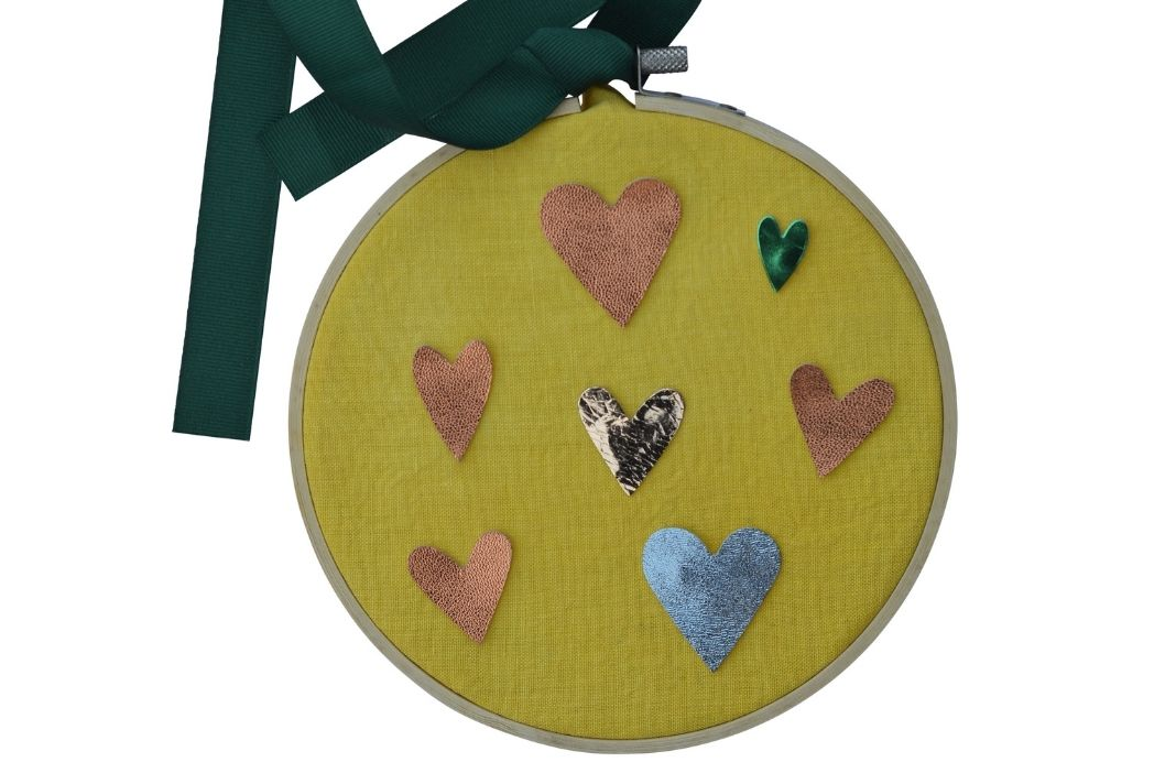 Make an Upcycled Heart Valentines Embroidery Hoop: Kit