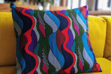 Load image into Gallery viewer, Cotton Waxprint Cushion Cover by OJA London: Ripple