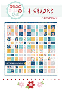 4 Square Quilt Pattern by Lindsey Weight for Primrose Cottage Quilts