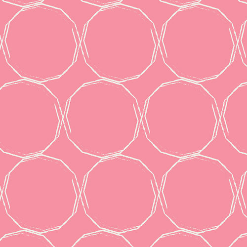 Hula Hoops Blush Pink by Pat Bravo for Art Gallery Fabrics
