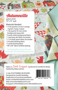 Autumnville Quilt Pattern by Thimble Blossoms