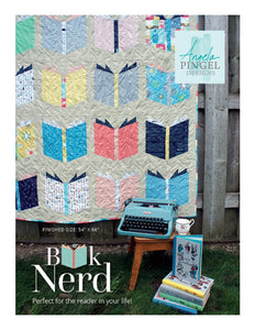 Book Nerd Quilt Pattern by Angela Pingel