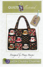 Load image into Gallery viewer, Chubby Charmer Large Tote Bag Pattern by Penny Sturges for Quilts Illustrated
