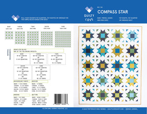 PREORDER for Nov/Dec Delivery!  Compass Star Quilt Kit