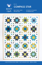 Load image into Gallery viewer, Compass Star Quilt Pattern by Emily Dennis of Quilty Love