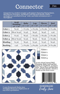 Connector Quilt Kit-Pattern by Emily Tindall of Homemade Emily Jane