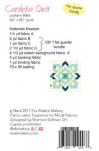 Load image into Gallery viewer, Cordelia Quilt Pattern by Eva Blakes Makery