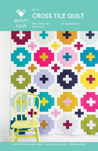 Cross Tile Quilt Pattern by Emily Dennis of Quilty Love