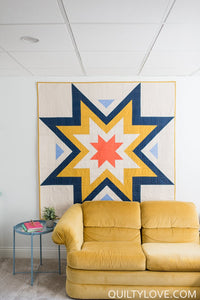 Expanding Stars Quilt Pattern by Emily Dennis of Quilty Love