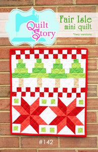 Fair Isle Mini Quilt Pattern by Freshly Pieced