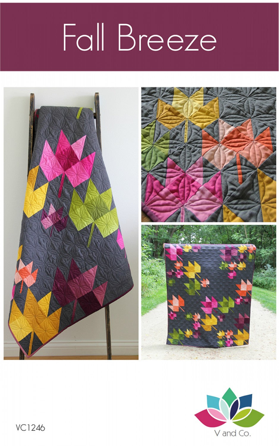 Fall Breeze Ombre Quilt Pattern by Vanessa Christenson of V and Co