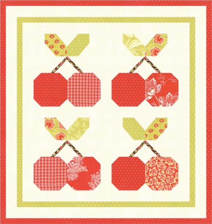 Cherry Pie Mini Quilt Pattern by Fig Tree and Co