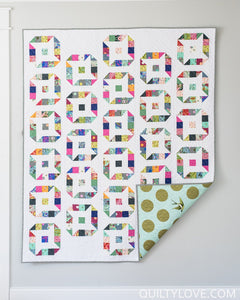 Friendly Stars Quilt Pattern by Emily Dennis of Quilty Love