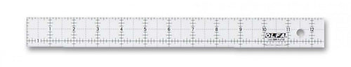 Olfa Frosted Non Slip 1.5 inch by 12.5 inch Ruler