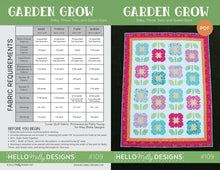 Load image into Gallery viewer, Garden Grow Quilt Pattern by Hello Melly Designs