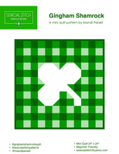 Load image into Gallery viewer, Gingham Shamrock Mini Quilt Kit