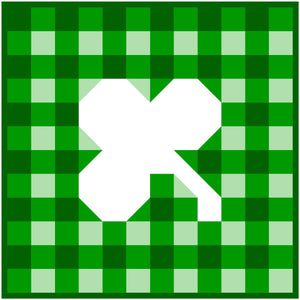 Gingham Shamrock Mini Quilt Kit
