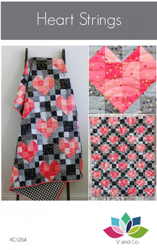 Heart Strings Ombre Quilt Pattern by Vanessa Christenson of V and Co