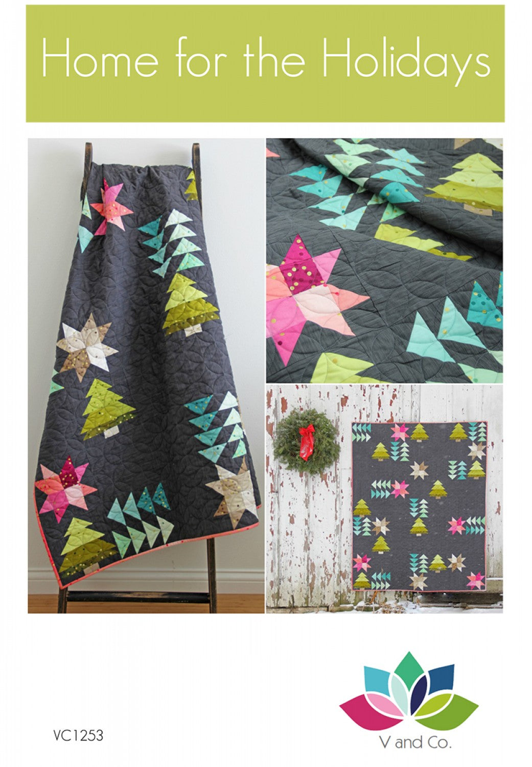 Home for the Holidays Ombre Quilt Pattern by Vanessa Christenson of V and Co