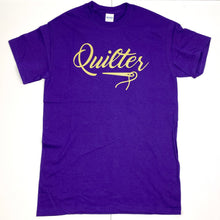 Load image into Gallery viewer, Quilter Tee Shirt Purple and Black