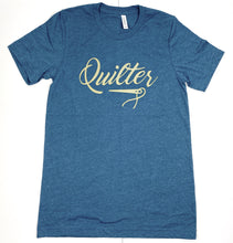 Load image into Gallery viewer, Quilter Tee Shirt Deep Teal, Burgundy and Green