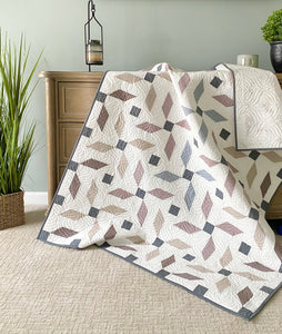Propeller Quilt Kit Throw by Mandi Persell of Sewcial Stitch