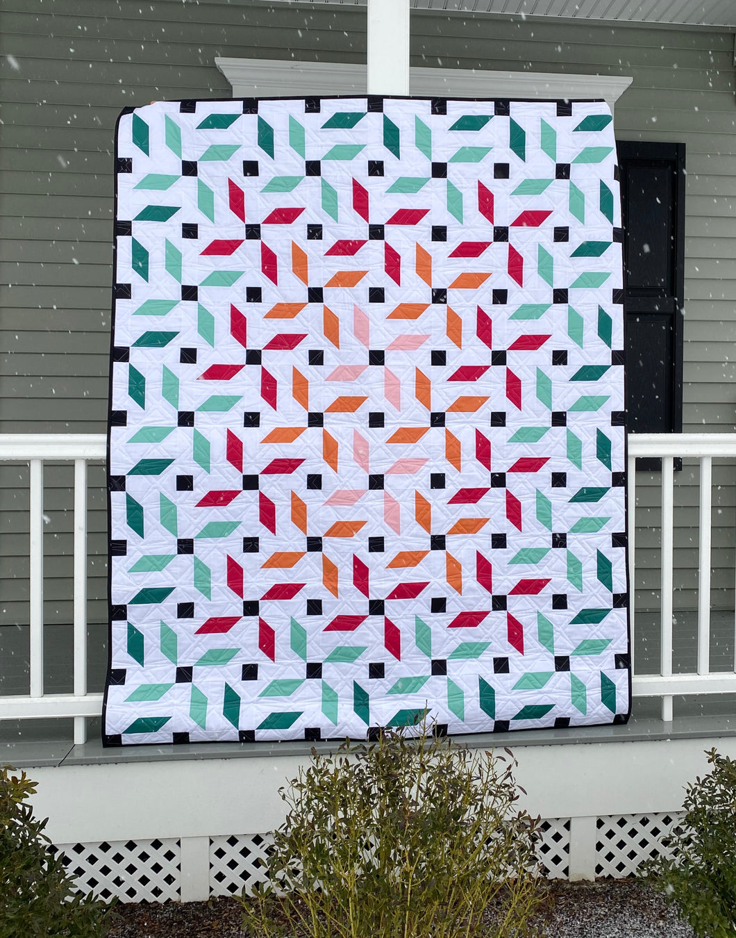 Propeller Quilt Kit Large Throw by Mandi Persell of Sewcial Stitch